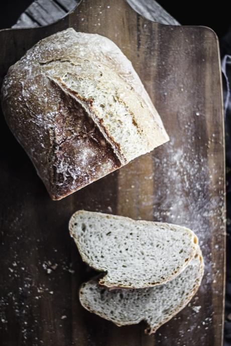 Hogaza de pan con prefermento