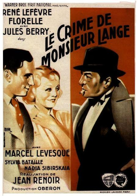 EL CRIMEN DEL SEÑOR LANGE - Jean Renoir, vose