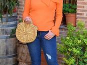 Jersey naranja maxi lazo Femme Luxe