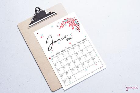 Freebie: Calendario Junio 2020