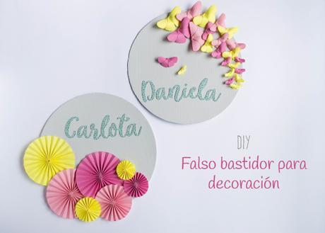 DIY: Falso bastidor para decoracion