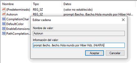 Personalizar el Símbolo del sistema de Windows con un mensaje de bienvenida