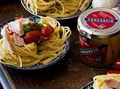 Spaghetti tomates confitados, ventresca