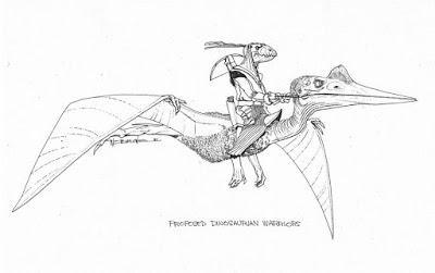 Los guerreros dinosauroides de Wayne Barlowe