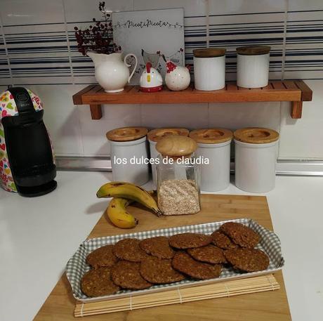 Galletas de avena y plátano