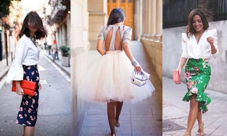Tubo Outfit Con Falda Larga Pegada