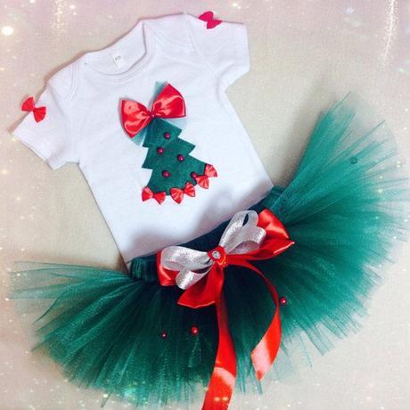 Disfraz Navidad Falda Tul