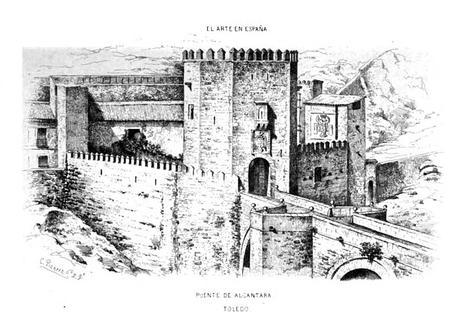 Archivo:1864, El Arte en España, Puente de Alcántara, Pizarro.jpg