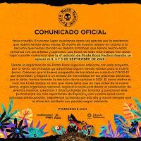 Comunicado aplazamiento Pirata Rock Festival 2020 a Septiembre