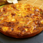 Pastel o tarta salada de calabacin en Thermomix