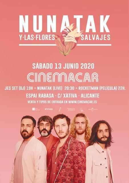 Concierto de Nunatak el 13 de junio en el Cinemacar de Alicante