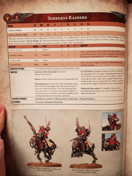 Se filtran perfiles y reglas nuevos del Mechanicum