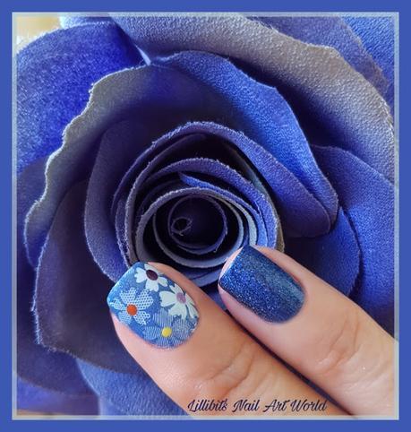 Reto Uñitas Unidas: Azul y flores