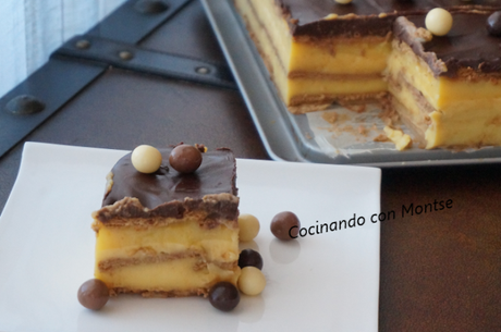 Tarta de la abuela: Tarta de galletas, chocolate y flan