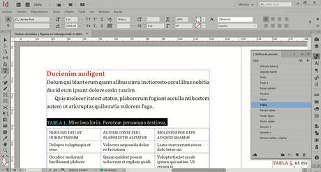 Cómo crear varios índices de tablas y figuras en InDesign en un mismo archivo
