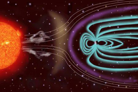La medición más antigua de la magnetosfera revela que el Sol y la Tierra se disputan nuestra atmósfera