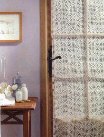 Tejidos De Crochet  O Diferentes Textiles De Hogar  Las Cortinas