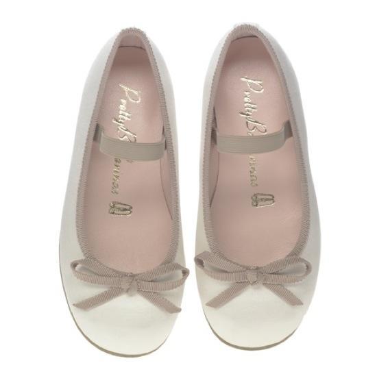 Pretty Ballerinas baby Hannah_Ivory_satin