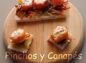 Pincho salmón ahumado queso philadelphia avellanas