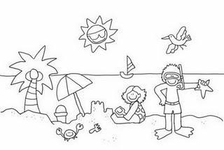 Dibujos para colorear del verano  Paperblog