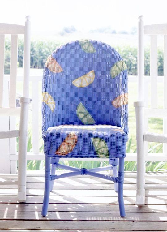pintar sillas de mimbre