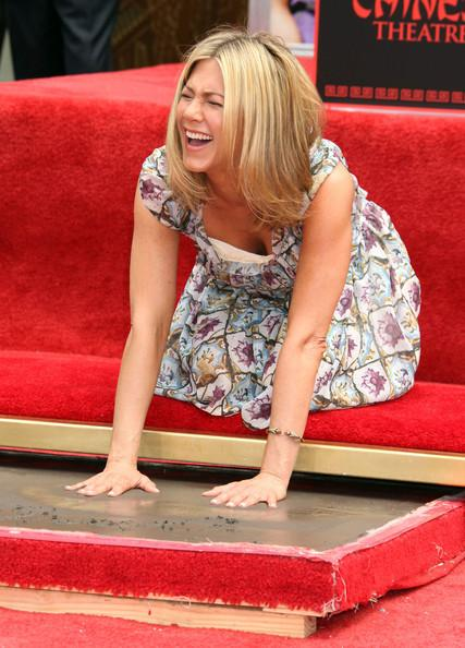 Jennifer Aniston Actress Jennifer Aniston attending her Hand and Footprint ceremony outside the Grauman's Chinese Theatre, Hollywood, CA. Also in attendance were Jason Bateman, Chelsea Handler and Jennifer's new love interest Justin Theroux.