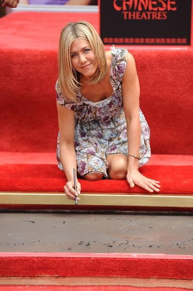 Actress Jennifer Aniston is honored with a Hand and Footprint Ceremony outside Grauman's Chinese Theatre on July 7, 2011 in Hollywood, California