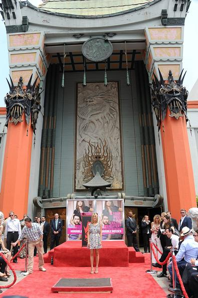 Actress Jennifer Aniston is honored with a Hand and Footprint Ceremony outside Grauman's Chinese Theatre on July 7, 2011 in Hollywood,California