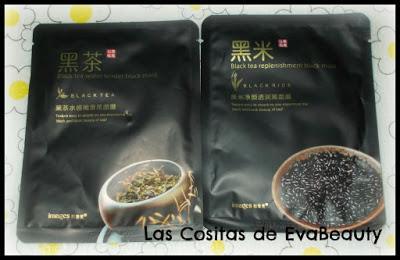 Mascarillas faciales tissú arroz negro IMAGES Aliexpress low cost belleza skincare