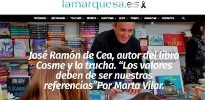 Entrevista en La Marquesa sobre los valores en mis cuentos