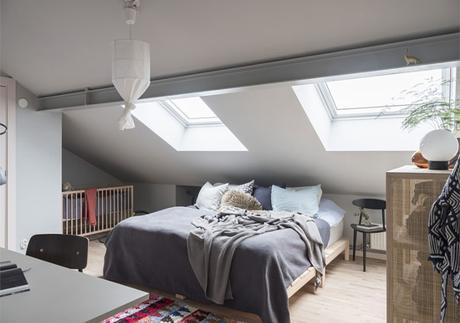 Una casa con un delicado estilo escandinavo