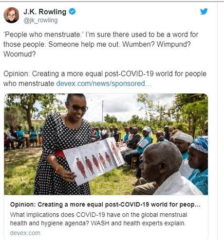 J.K. Rowling, autora de 'Harry Potter', acusada de transfobia por un comentario en redes sociales