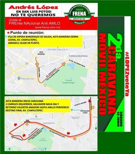 Convocan a segunda marcha Anti-AMLO en San Luis Potosí