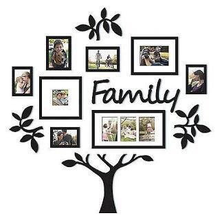 Decoración de paredes en 3d con diseño de árbol genealógico