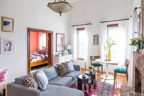 Brooklyn Loft eclectico-salon