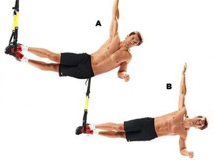 ejercicios trx plancha