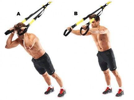 ejercicios trx triceps
