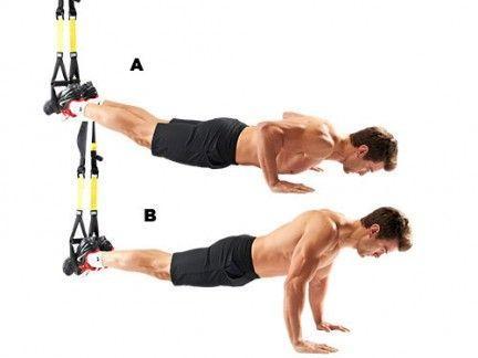 ejercicios trx flexiones pecho