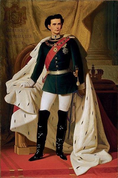 File:De 20 jarige Ludwig II in kroningsmantel door Ferdinand von Piloty 1865.jpg