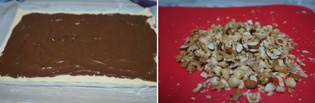 Trenza de hojaldre con chocolate y frutos secos
