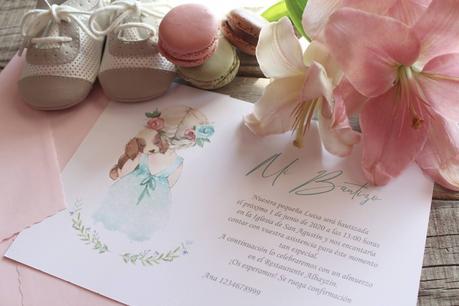 Invitaciones para Bautizo Tiernas y Delicadas