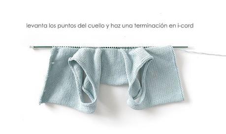 Cómo tejer el vestido de punto para niña y bebé SEASIDE - Patrón y Tuorial Paso a Paso - Pule los untos del cuello