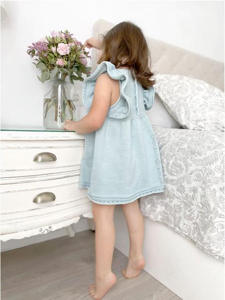 Cómo tejer el vestido de punto para niña y bebé SEASIDE - Patrón y Tuorial Paso a Paso - Teje el cuerpo del vestido