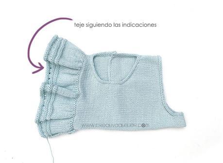 Cómo tejer el vestido de punto para niña y bebé SEASIDE - Patrón y Tuorial Paso a Paso - Teje los volantes