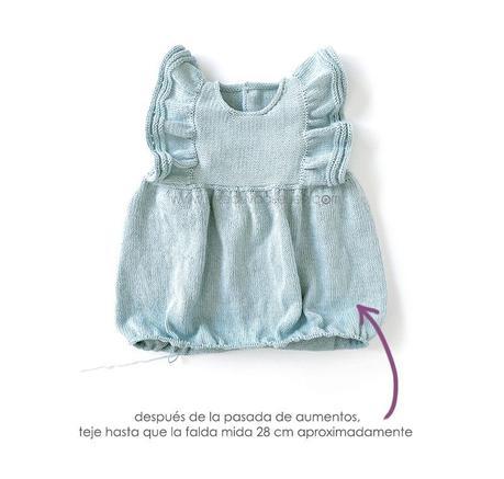 Cómo tejer el vestido de punto para niña y bebé SEASIDE - Patrón y Tutorial Paso a Paso- Teje la falda del vestido