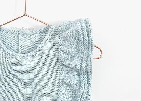 Cómo tejer el vestido de punto para niña y bebé SEASIDE - Patrón y Tuorial Paso a Paso - Vestido colgado de percha