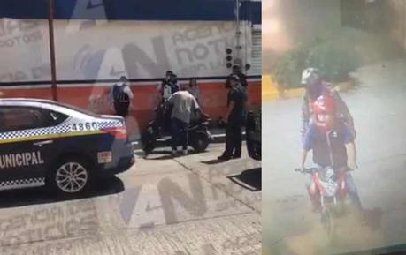 Motociclistas lesionan a Policía Municipal en Las Julias