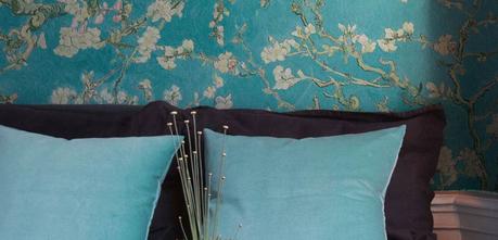 papel de flores vintage para las decoraciones modernas de casas
