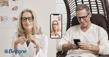 Beltone Remote Care Live acerca la evaluación auditiva del audioprotesista al sofá del paciente