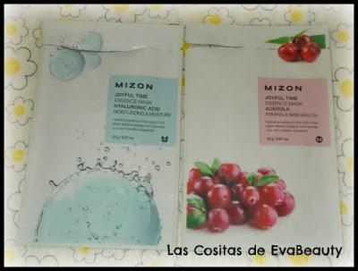 Mascarillas faciales de tissú de ácido hialurónico y acerola de la marca MIZON